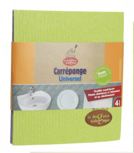 Lot de 4 carré éponge en cellulose