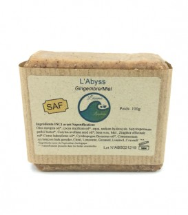 "Savon solide & naturel ""Abyss"" Gingembre/Lemongrass"