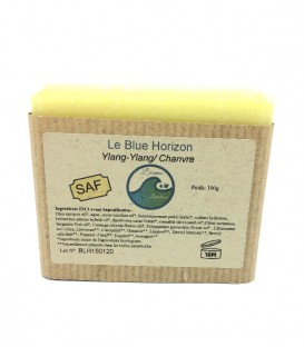 "Savon solide & naturel ""Blue Horizon"" Ylang-Ylang/Chanvre"