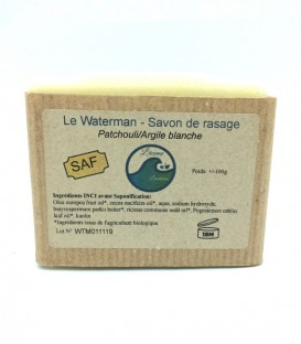 "Savon de rasage solide & naturel ""Waterman"" au Patchouli"