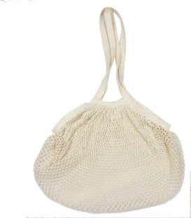 Sac filet écru en coton Bio
