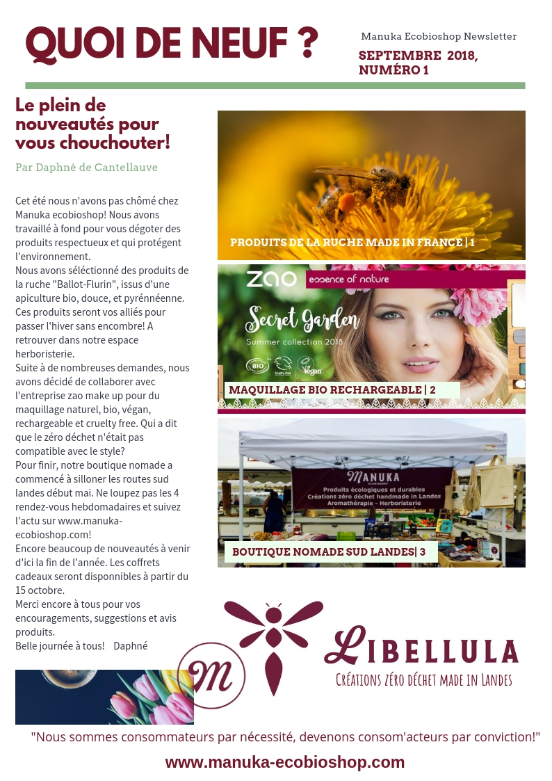 newsletter 1 septembre 18 manuka ecobioshop