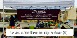 Planning Boutique Nomade Manuka Ecobioshop