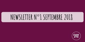Newsletter N°1 septembre 2018